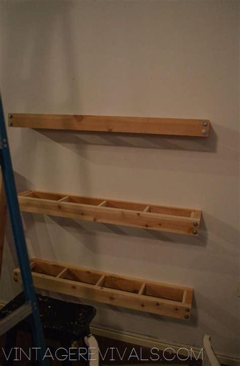 diy industrial modern floating shelves shelves cable