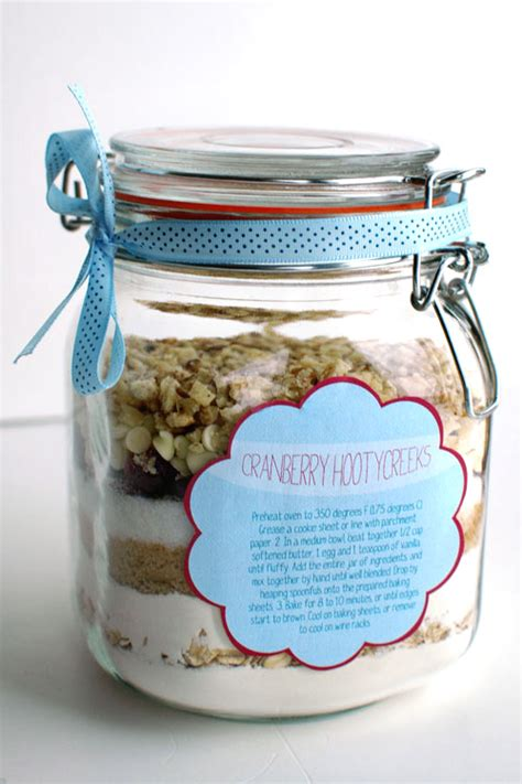 printable cookie jar recipes cookies in a jar cranberry hootycreeks with free