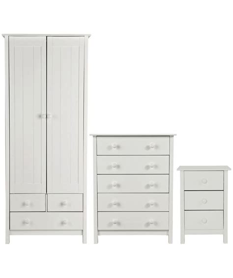 buy scandinavia 3 2 door wardrobe package white at