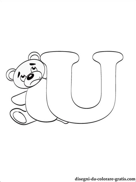 lettere dell alfabeto da colorare e stare gratis lettera u disegni da colorare disegni da colorare gratis