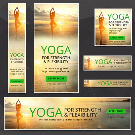 banner design for yoga yoga banners by doto graphicriver