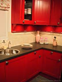 Red Kitchen Cabinets by Gallery For Gt Distressed Red Kitchen Cabinets