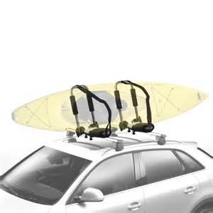 2 car roof top mounted kayak canoe surf carrier j rack ebay
