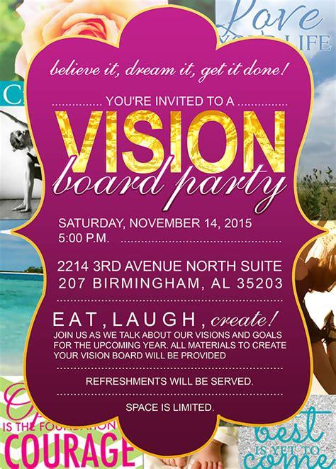 Vision Board Party With Adrienne Nixon Tickets Sat Nov 14 2015 At 5 00 Pm Eventbrite Vision Board Invitation Template
