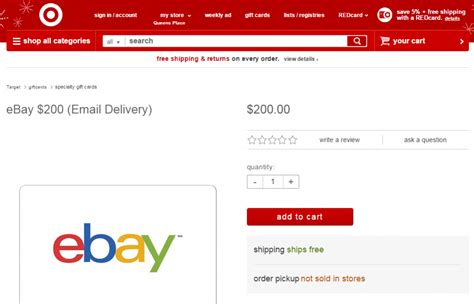 200 ebay gift card available at target com ways to save money when shopping - Ebay Target Gift Card