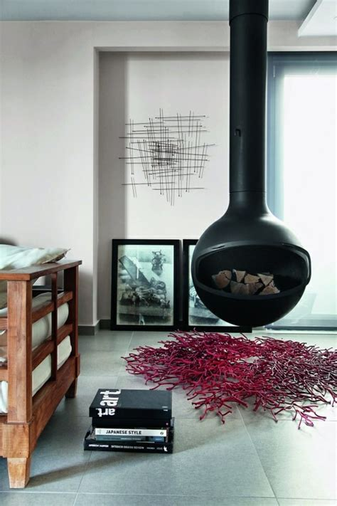 Hanging Stove ? Modern Luxury Fireplaces Interior Design Ideas AVSO.ORG