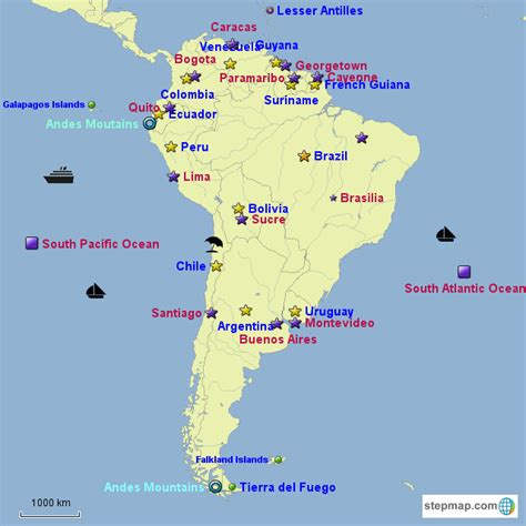 south america map and capitals best photos of south america map with capitals south