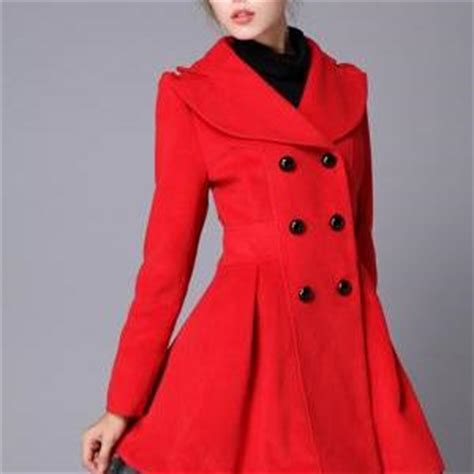 55549 Jaket Pink swing wool coat jacket pea coats princess outerwear winter top for wc071 1 on luulla
