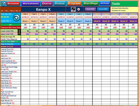 excel template training training spreadsheet template