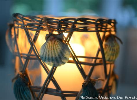 easy way to decorate home seashell craft for nautical beach house decorating