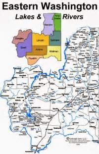 map of eastern us lakes boating the inland northwest eastern washington lakes