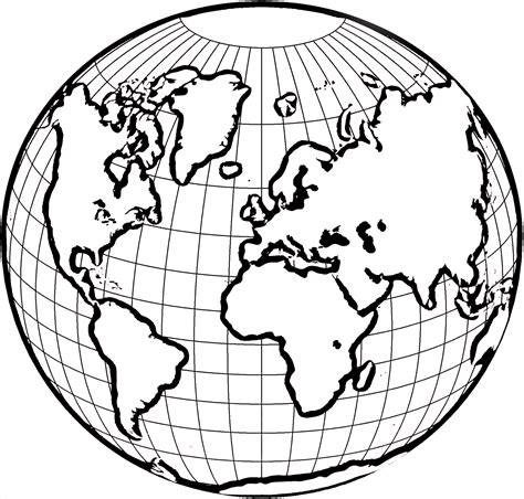 World Globe Coloring Page globe coloring