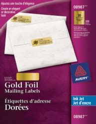 avery 8987 template mailing labels avery 174 gold foil mailing labels for inkjet