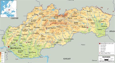 map with cities maps of slovakia detailed map of slovakia in tourist map of slovakia road map of