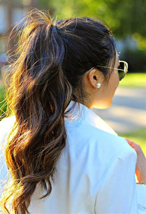 cute hairstyles you can sleep in wavy ponytail easy back to school hairstyles to let you