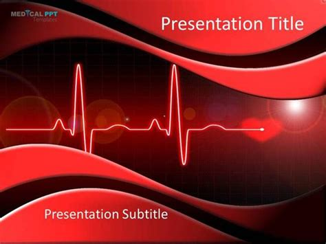 Heart Cardiology Powerpoint Template Authorstream Cardiac Powerpoint Template