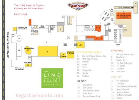 Mandalay Bay Floor Plan by The Linq Casino Property Map And Layout