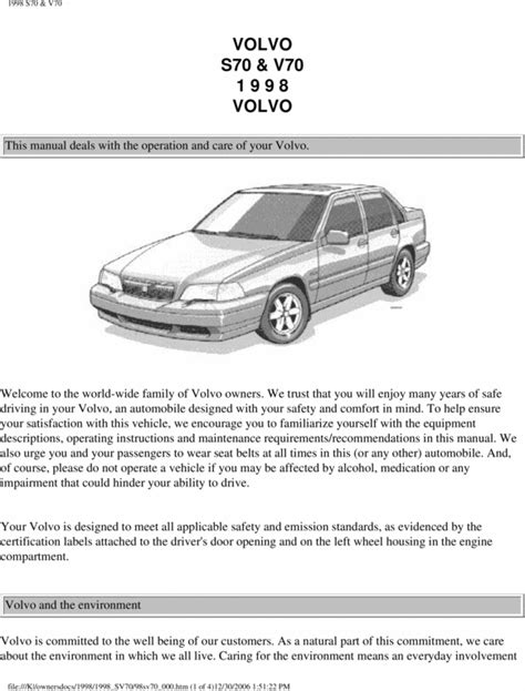 service repair manual free download 2005 volvo v70 spare parts catalogs 98 volvo s70 v70 1998 owners manual download manuals technical
