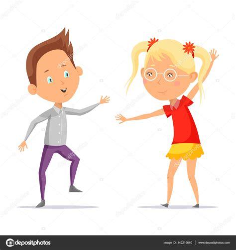 imagenes niños bailando animados ni 241 os bailando o dibujos animados chico con chica en