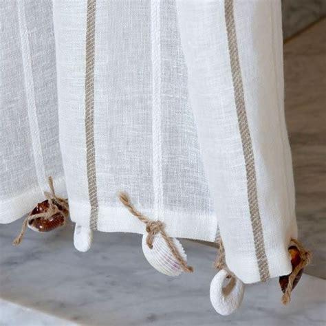 seashell sheer curtains habitat odin bamboo 6 tier sea shells beaches and ties