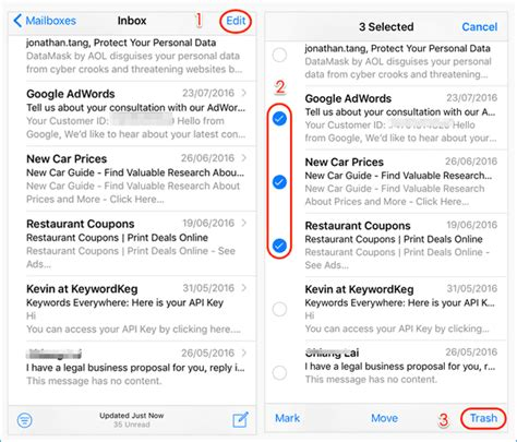 how to delete all emails from mail in and free ways to delete all emails on iphone x at