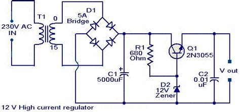 12v zener diode breakdown voltage high current regulator 12v circuit diagram circuit wiring diagrams