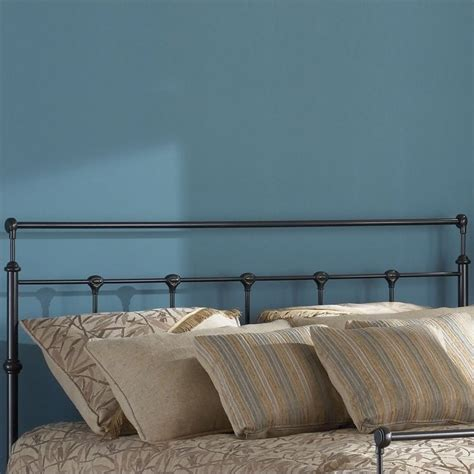 gold headboard fashion bed group winslow metal mahogany gold finish