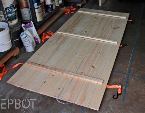 how to make simple doors epbot make your own sliding barn door for cheap