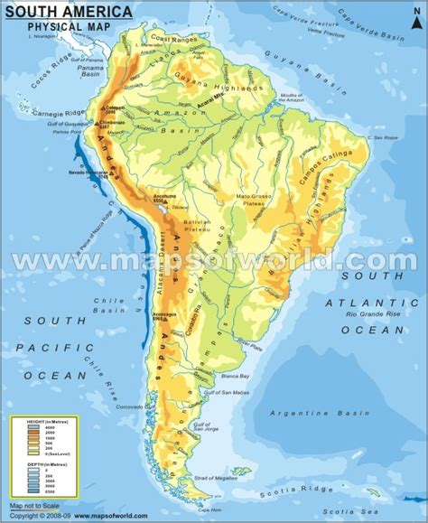 south america map 2 south america physical map maps south america
