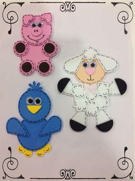 figuras foamy fomi excelentes para animalitos de la granja hechos con perforadores de figuras