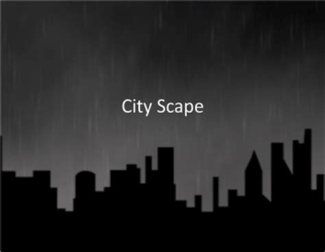 city scape template powerpoint template
