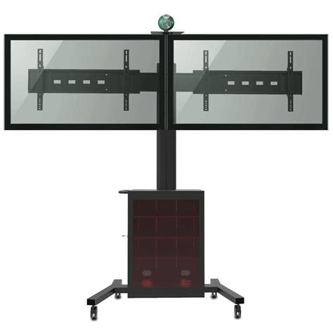 mobile tv stand fleximounts 2 in 1 dual monitor arm desk mount laptop stand fits 10 in 27 in lcd screens