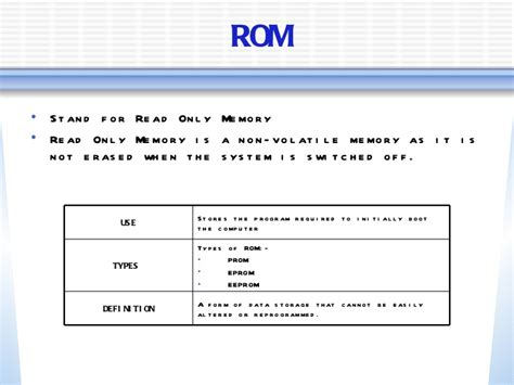 ram is a permanent storage location storage devices