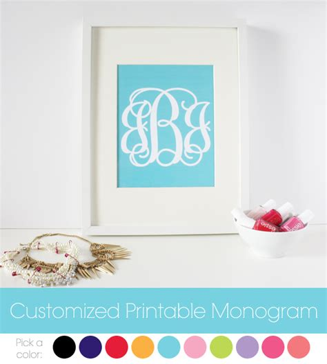free printable monogram templates my new monogrammed binders with tutorial baked in the