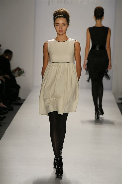 New York Fall Fashion Week 2007 Dress Collection by She Debuted A Soft Babydoll Dress From The Kayne