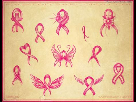 pink ribbon tattoo designs free breast cancer tattoos designs designs and templates
