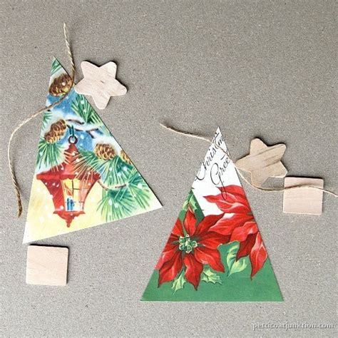 how to make christmas ornaments from vintage cards
