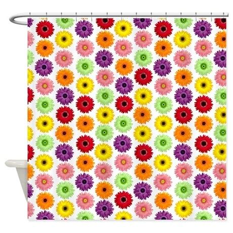 gerbera daisy shower curtain colorful gerbera daisies shower curtain by cutetoboot
