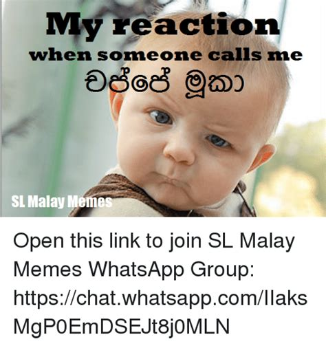Malay Meme - my reaction when someone calls me sl malay meme open this