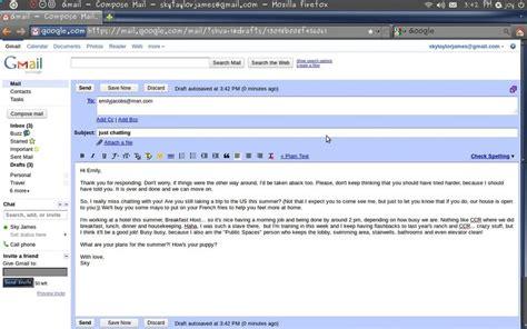 email format informal writing informal email exles