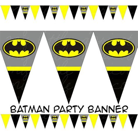 printable batman happy birthday banner batman printable pennant bunting instant download by