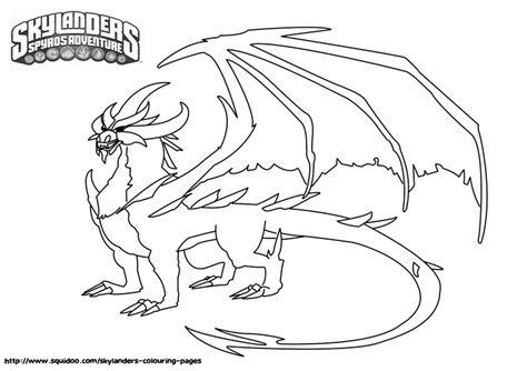 skylander dragon coloring page skylanders malefor coloring pages jpg 1600 215 1131 fonts