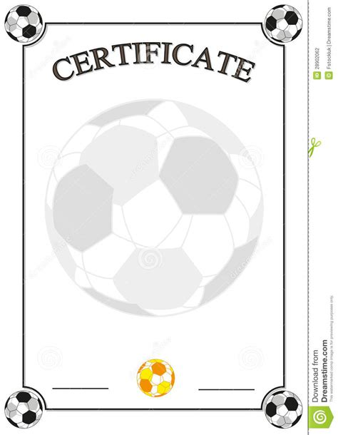 football certificate stock photography image 28902062