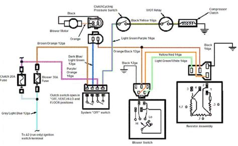 ford mustang air conditioner wiring schematic diagram