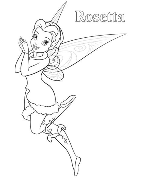 tinkerbell coloring page pdf rosetta tinkerbell coloring page tinkerbell coloring home