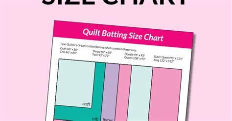Quilt Batting Comparison Chart quilt batting size chart quilt sizes free printable and