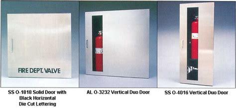 department valve cabinet triangle inc extinguisher cabinets larsen