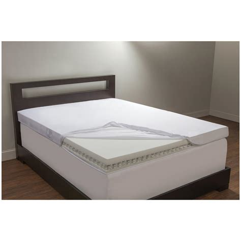 King Bed Foam Topper Comfort Revolution 174 California King 4 Quot Coil And Foam Topper 623594 Mattress Toppers At