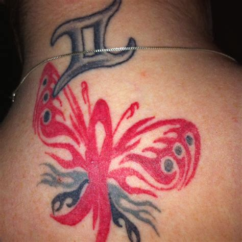 aids ribbon tattoo designs 71 best gemini tattoos images on signs zodiac