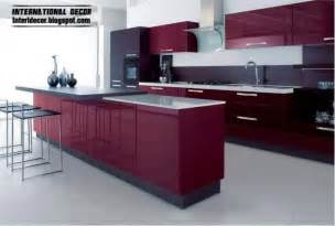 Modern Kitchen Design 2014 Purple Kitchen Interior Design And Contemporary Kitchen Design 2014